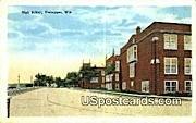 High School, Sheboygan - Wisconsin WI Postcard
