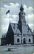 Post Office - Racine, Wisconsin WI Postcard