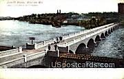 John St Bridge - Appleton, Wisconsin WI Postcard