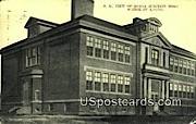 Genoa Junction High School Building - Wisconsin WI Postcard