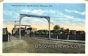 Pennsylvania Ave, Bascule Bridge - Sheboygan, Wisconsin WI Postcard