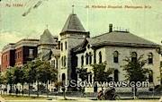 St Nicholas Hospital - Sheboygan, Wisconsin WI Postcard