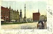 Monument Square - Racine, Wisconsin WI Postcard