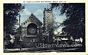 St Joseph's Church & Rectory - Berlin, Wisconsin WI Postcard