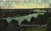 Fox River Water Power - Appleton, Wisconsin WI Postcard