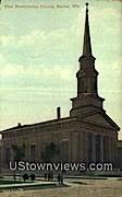 First Presbyterian Church - Racine, Wisconsin WI Postcard