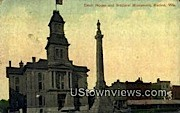 Court House & Soldiers' Monument - Racine, Wisconsin WI Postcard