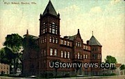 High School - Racine, Wisconsin WI Postcard