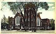 First ME Church - Racine, Wisconsin WI Postcard