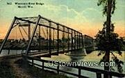 Wisconsin River Bridge - Merrill Postcard