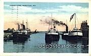 Harbor Scene - Sheboygan, Wisconsin WI Postcard
