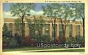 US Post Office & Court House - Wausau, Wisconsin WI Postcard