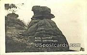 Real Photo - Rock Scenery - Basswood, Wisconsin WI Postcard