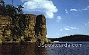 High Rock - Wisconsin River Postcards, Wisconsin WI Postcard