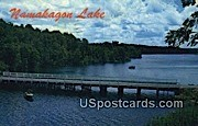 Fishing, Upper Bridge - Chequamegon National Forest, Wisconsin WI Postcard
