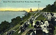 Juneau Park - MIlwaukee, Wisconsin WI Postcard