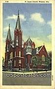 St James Church - Wausau, Wisconsin WI Postcard
