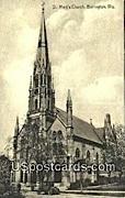 St Mary's Church - Burlington, Wisconsin WI Postcard