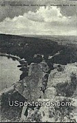 Tomahawk Rock, Devil's Lake - Wisconsin State Park Postcards, Wisconsin WI Postcard