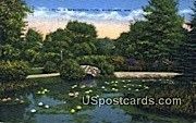 Lily Pond, Washington Park - MIlwaukee, Wisconsin WI Postcard