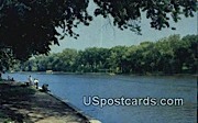 Rock River - Fort Atkinson, Wisconsin WI Postcard