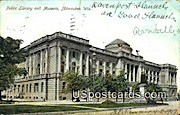 Public Library & Museum - MIlwaukee, Wisconsin WI Postcard