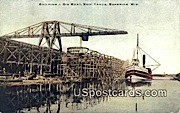 Building a Big Boat, Ship Yards - Superior, Wisconsin WI Postcard