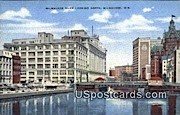 Milwaukee River - Wisconsin WI Postcard