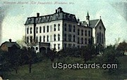 Milwaukee Hospital - Wisconsin WI Postcard