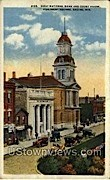 First National Bank And Court House - Racine, Wisconsin WI Postcard