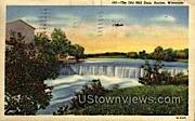 The Old Mill Dam - Racine, Wisconsin WI Postcard