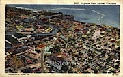 Air View  - Racine, Wisconsin WI Postcard