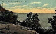 Lake Michigan - Racine, Wisconsin WI Postcard