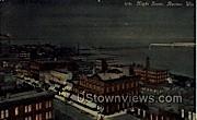 Night Scene - Racine, Wisconsin WI Postcard