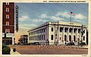 United States Post Office - Racine, Wisconsin WI Postcard