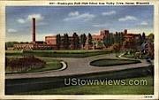 Washington Park High School - Racine, Wisconsin WI Postcard