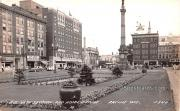 Business Section and Hotel Racine - Wisconsin WI Postcard
