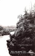Rocks and Bridge - Saint Croix Falls, Wisconsin WI Postcard