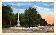 Soldiers' Monument In Fountain Park - Sheboygan, Wisconsin WI Postcard