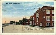 High School - Sheboygan, Wisconsin WI Postcard
