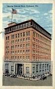Security National Bank - Sheboygan, Wisconsin WI Postcard