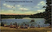 Bathing Beach, Pattison State Park - Superior, Wisconsin WI Postcard