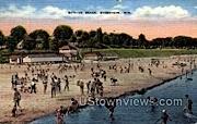 Bathing Beach - Sheboygan, Wisconsin WI Postcard