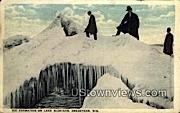 Ice Formation On Lake Michigan  - Sheboygan, Wisconsin WI Postcard