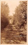 Road to Glimore Lake - Tomahawk Lake, Wisconsin WI Postcard