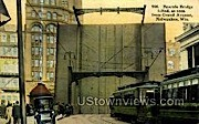Bascule Bridge - MIlwaukee, Wisconsin WI Postcard