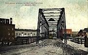 Falls Bridge - Wausau, Wisconsin WI Postcard
