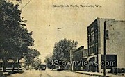 Main St. - Walworth, Wisconsin WI Postcard