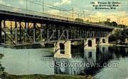 Folsom St. Bridge - MIlwaukee, Wisconsin WI Postcard