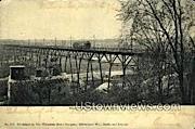 Wells St. Viaduct - MIlwaukee, Wisconsin WI Postcard